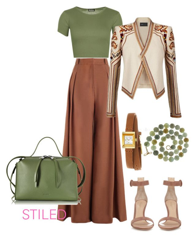 """""""Rusty Olive"""" by sunet-vermaak on Polyvore featuring Zimmermann, WearAll, BCBGMAXAZRIA, Gianvito Rossi, Jil Sander, Gucci and Valentin Magro"""