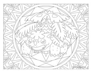 free printable pokemon coloring page venusaur coloring fun for all ages adults and children