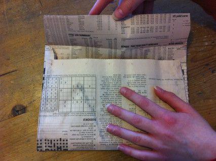 Making Newspaper Envelopes   Mindful Drawing