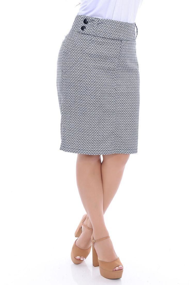 Saia Sarja Plus Size - Chic e Elegante
