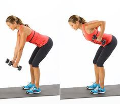 ท่าที่ 2 Dumbbell bent over row  3x15