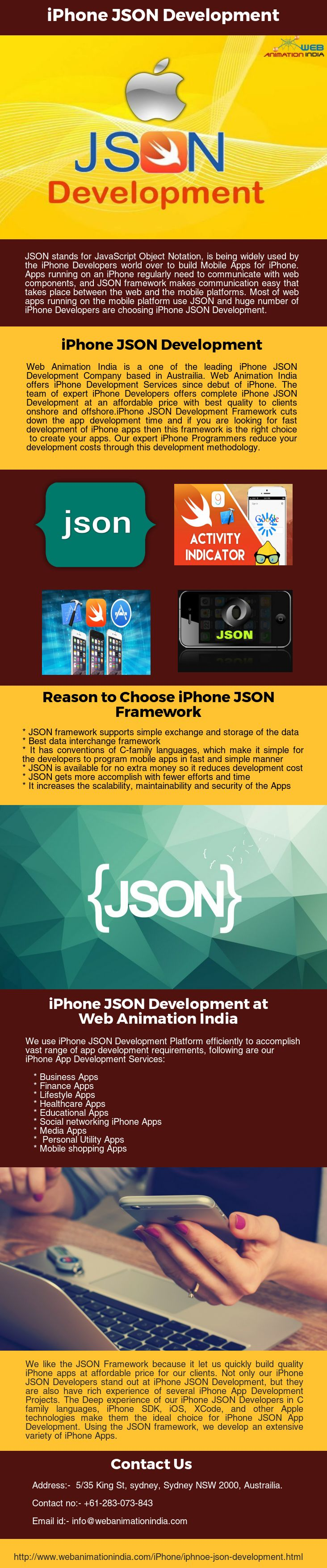 we offers iphone development services complete iphone json development at an