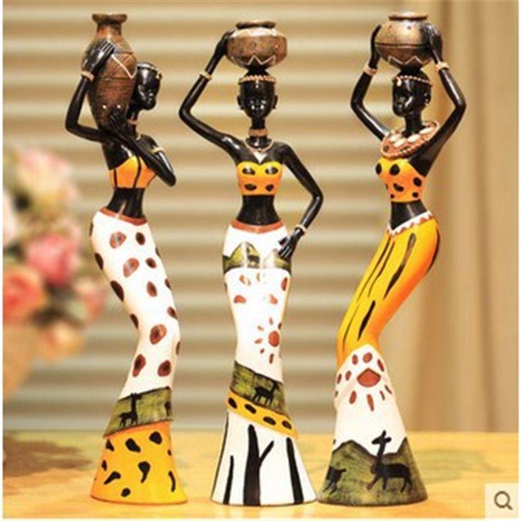 3-pcs-set-Creative-African-Lady-Resin-Figurine-font-b-Handmade-b-font-Decorative-font-b.jpg (800×800)