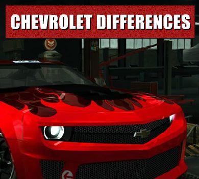 Las diferencias entre Chevrolet