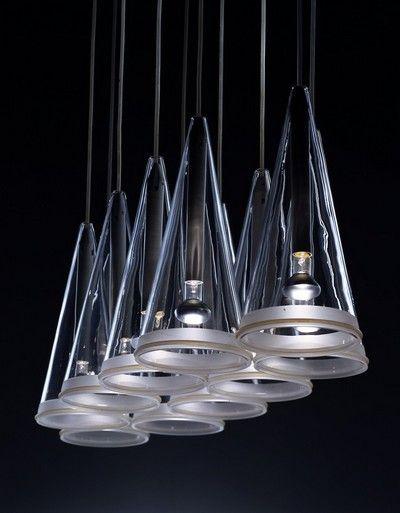 """hanging lamp """"Fucsia""""  designer: Achille Castiglioni  production : Flos"""