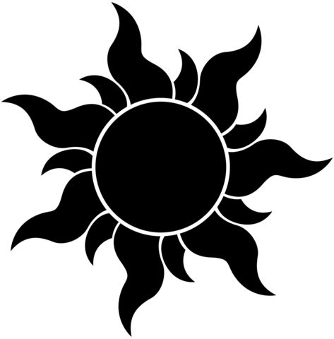 Tangled - Sun Silhouette Vinyl Decal                                                                                                                                                     More