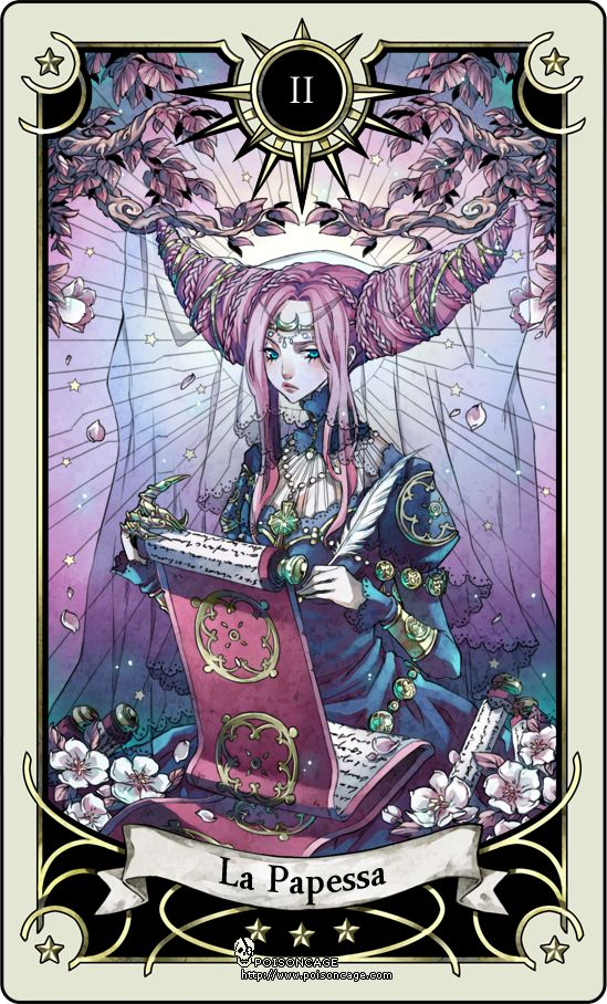 Tarot card 2- the High Priestess by rann-poisoncage.deviantart.com on @deviantART