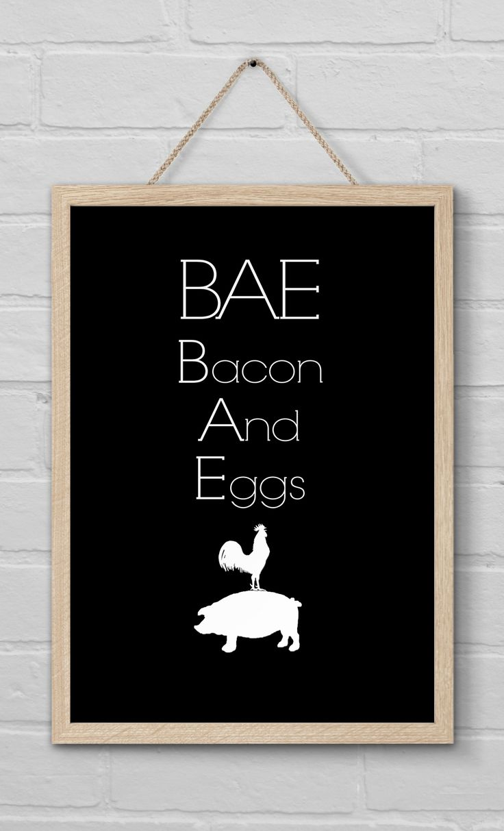 BAE - Bacon and Eggs Foodie Wall Print