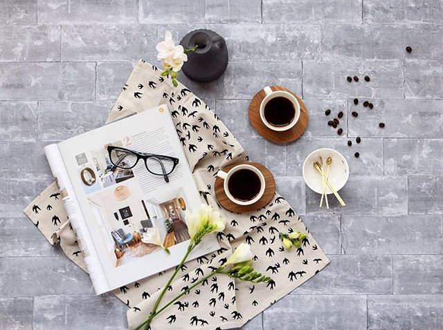 How cute is this wee birdie tea towel? 🕊️️ Perfectly matched with our ant espresso cups 🖤🖤 ⠀ ✖️FREE shipping ending soon❗️