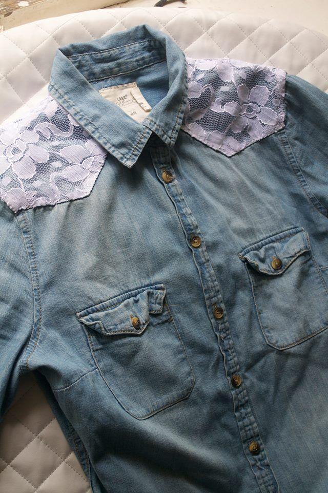 Customization of a denim shirt |  Kustom Couture