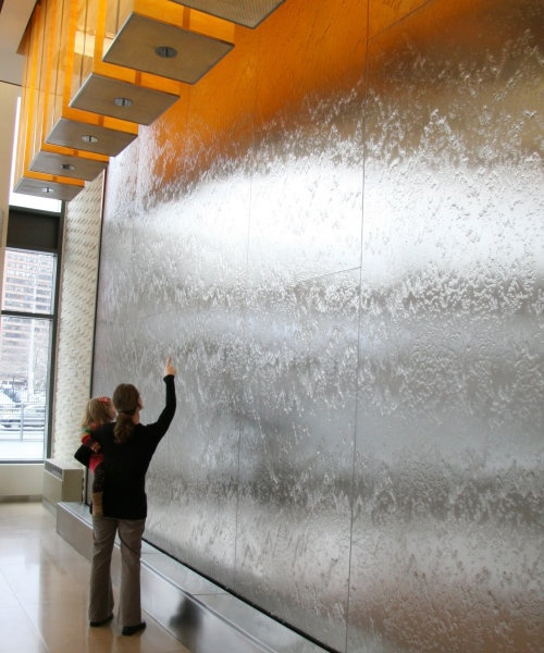 want a solar powered water wall