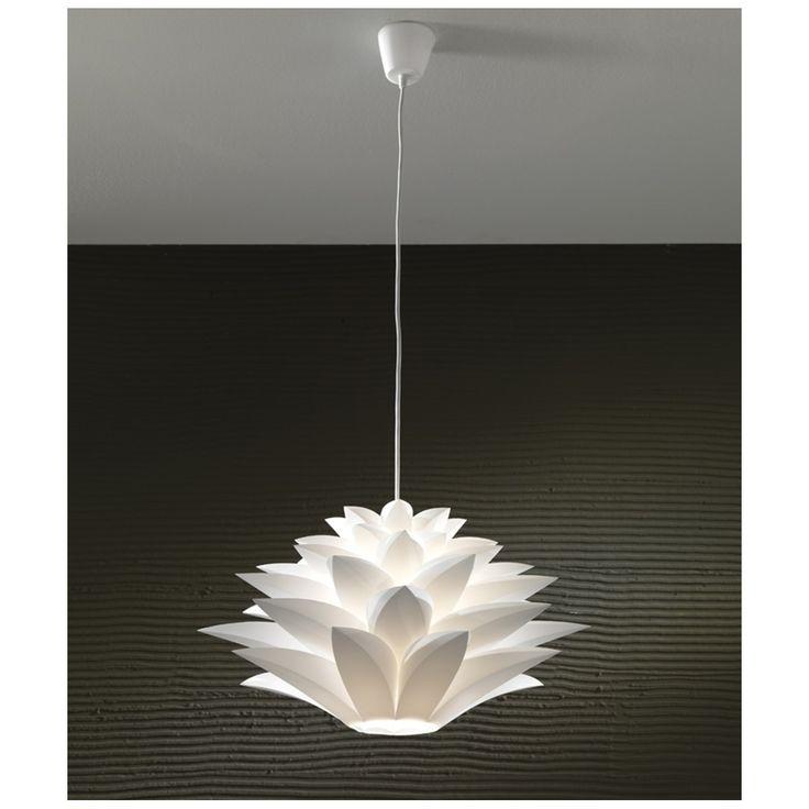 un lampadario formato da tanti petali illuminato con una lampada led a luce bianca   Lampade led     -> Lampade A Led Formato Alogena