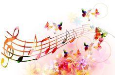 Music notes with butterflies 4K Ultra HD wallpaper | 4k-Wallpaper.Net