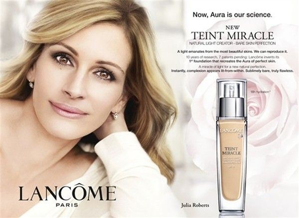 A L'Oreal British advertisment was banned in 2011 after the image of Julia Roberts, who posed for the picture was digitaly manipulated with retouching.   http://voices.yahoo.com/the-effects-photo-manipulation-media-10791151.html