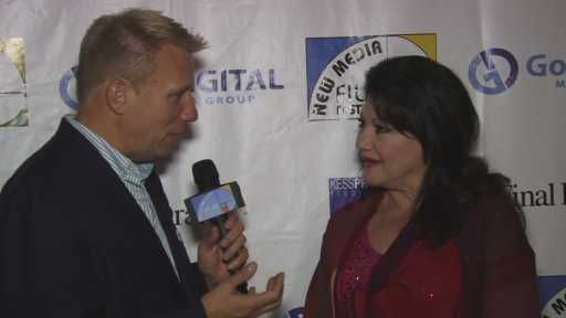 Go Harrison Interviewing Irina Maleeva on the Red Carpet at 4th Annual New Media Film Festival