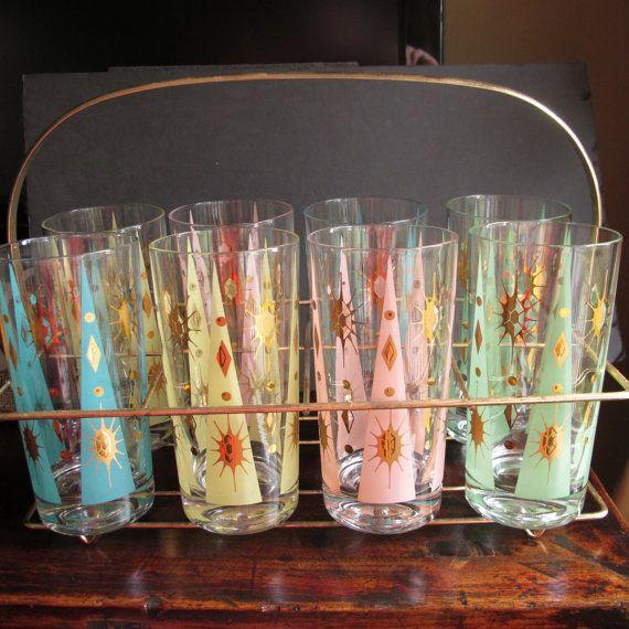 Vintage Fred Press Cocktail Glasses.