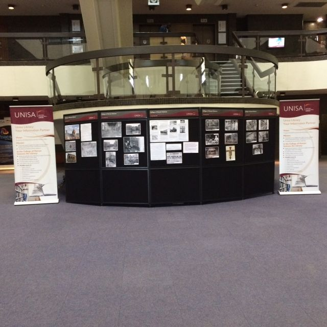Display  in the UNISA library to commemorate the flood in Florence, Italy, on 4 November 1966. (7-11 November 2016)