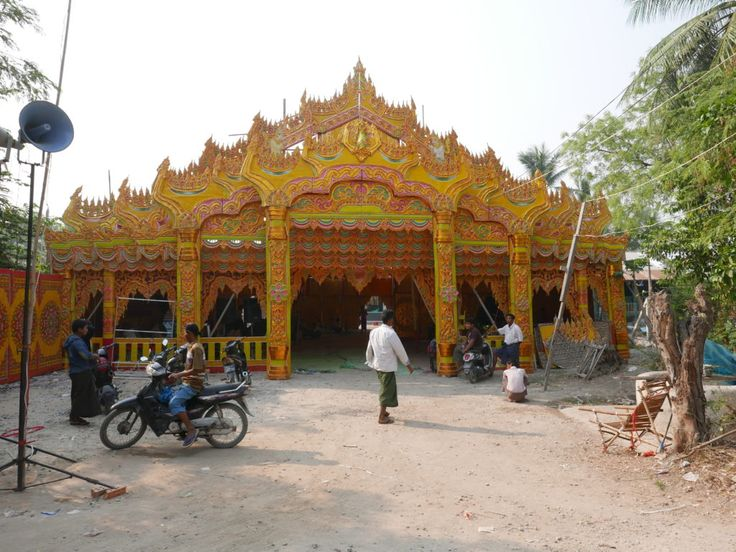 The fifth stop on the Grasshopper Bike Tour of Mandalay was a local village. The village had the day before had hosted a big celebration of the children who were going off to becomes monks and nuns. #SEAsia #Traveling #VillageCelebration #monks #nuns #Travelling #Wandering #Wanderer #travel #travelblogger #Mandalay #Myanmar #Burma #BikeTour #Bike #Tour #GrasshopperTours #GuidedTour #travelphotography #wanderlust #NicksWanderings