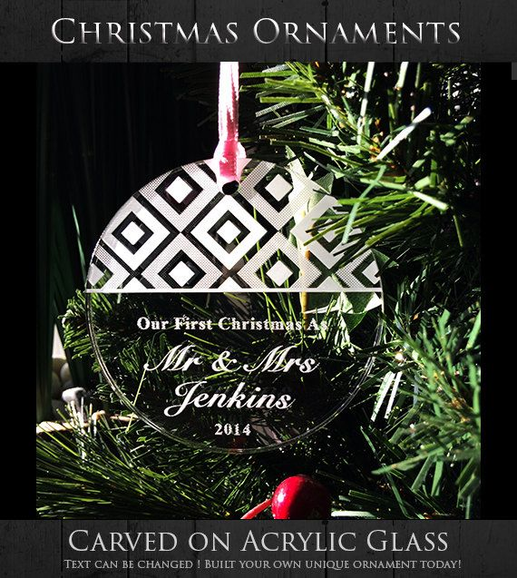Our First Christmas as Mr and Mrs Ornament  by WeddingTreePrints