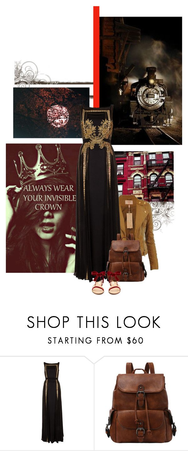 """Make sure your image is strong, after all it is there to protect your fragile soul"" by redheadlass ❤ liked on Polyvore featuring Børn, Temperley London, Valentino and Train"