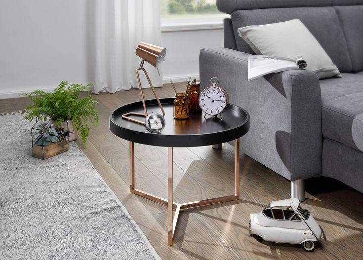 Wohnling Beistelltisch Eva Wl5 764 Schwarz Aus Mdf Mit Gold Gestell Wohnzimmer Coffee Table Coffee Table Design Table Design