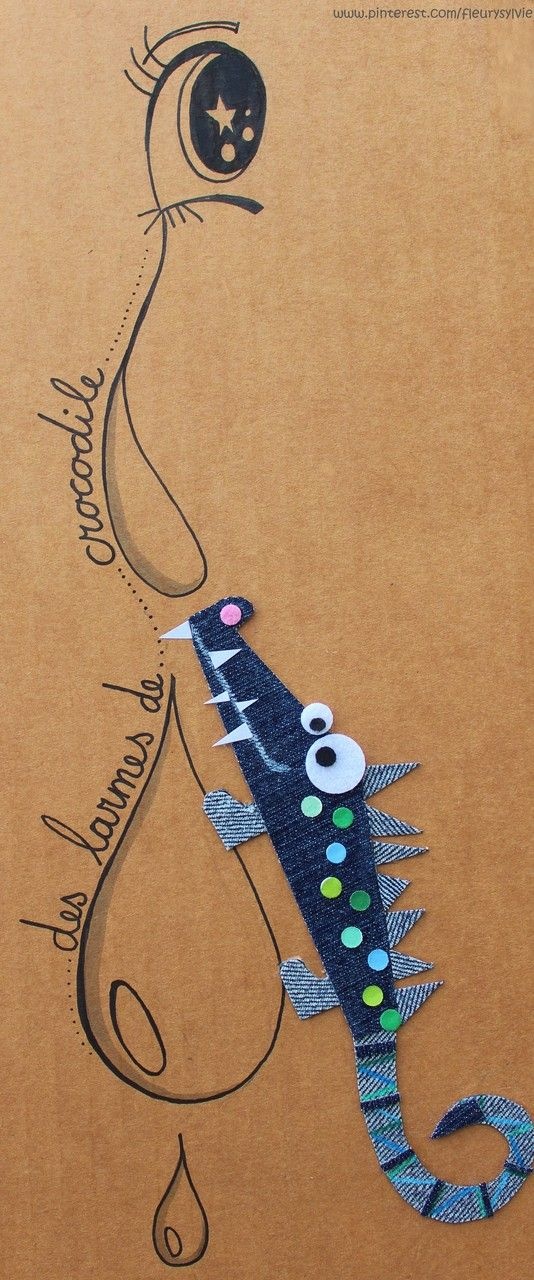 Des larmes de crocodile !! #jeans #recycle www.toutpetitrien.ch ou https://pinterest.com/fleurysylvie/mes-creas-la-collec/