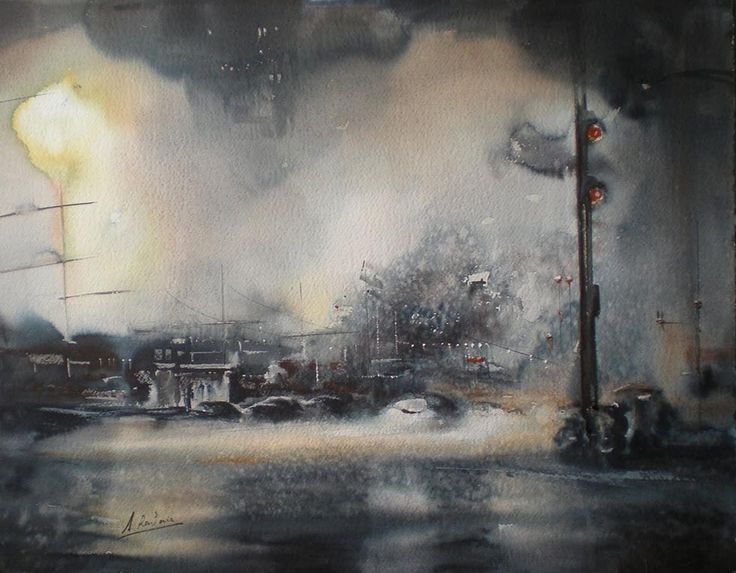 Aitor Renteria | Watercolor artist        Aitor Renteria's paintings capture the mood and ambience of everyday scenes.