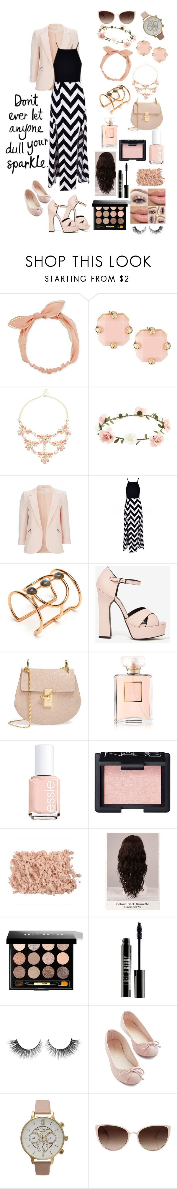 """""""Everything's Peachy(2)"""" by whitecrystxl ❤ liked on Polyvore featuring Arizona, Panacea, Robert Rose, Accessorize, Wallis, Lizzie Fortunato, Nasty Gal, Chloé, Chanel and Essie"""