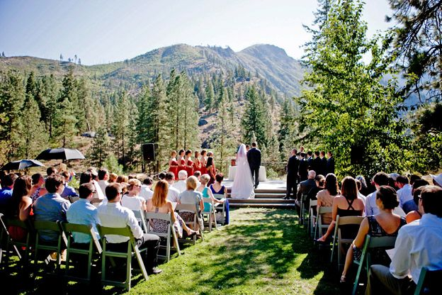 Outdoor Wedding Venues Washington State: Sleeping Lady Mountain Resort, Kingfisher Meadow & Stage
