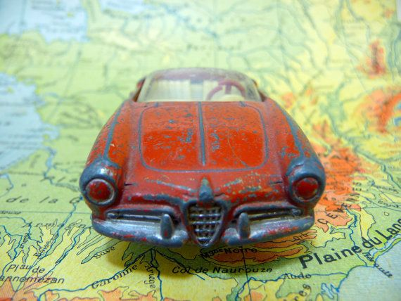 Alfa Romeo Spider Car Miniature french vintage by sofrenchvintage