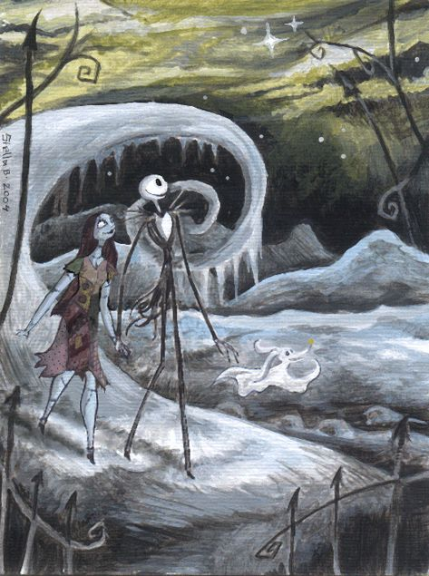 Jack and Sally by ~StellaB - Jack Skellington and Sally - The Nightmare Before Christmas