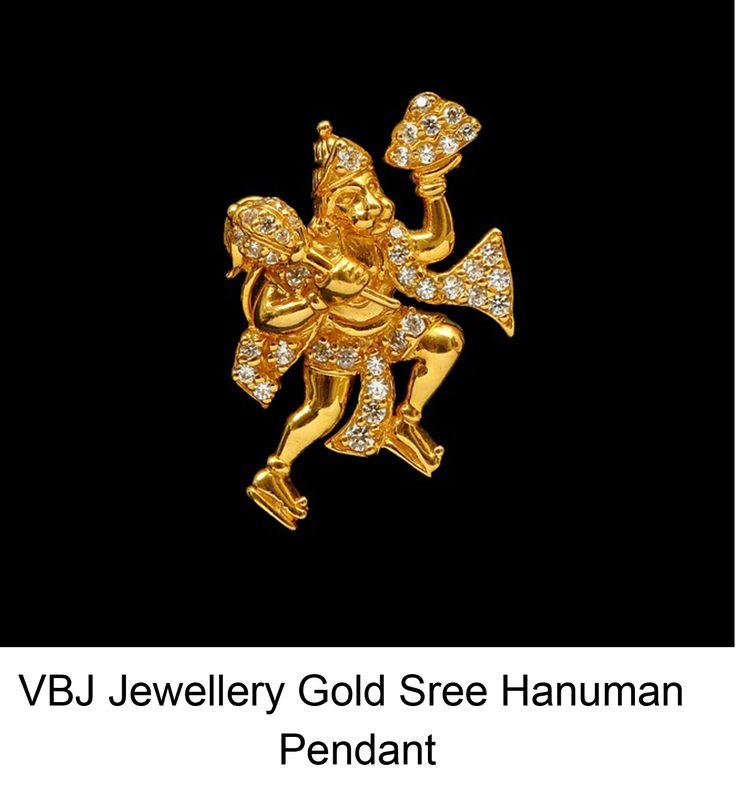 VBJ Offers Best Price On Jewellery Gold Sree Hanuman Pendant in Hyderabad