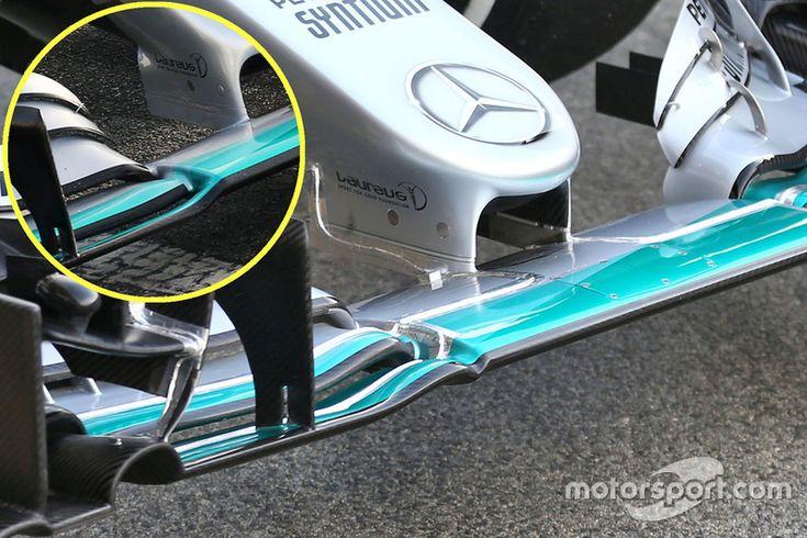 Détails de l'aileron avant de Mercedes AMG F1 W07 - Essais de février à Barcelone - Photos Formule 1 - Motorsport.com