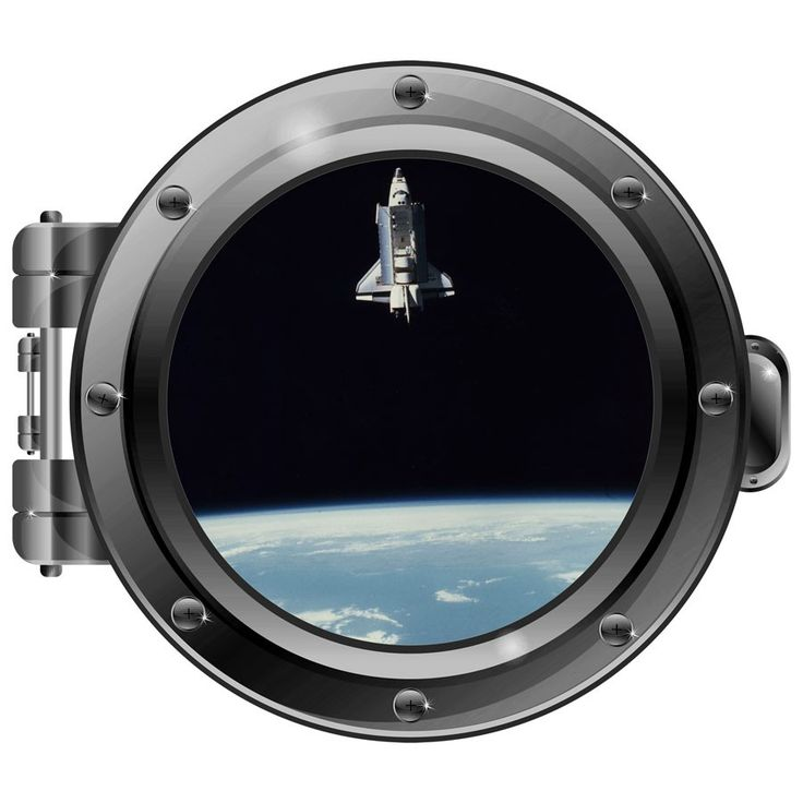 Keep climbing higher into your mysterious space journey with this port hole wall decal from Engrave, the Maker's Market.