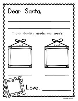 Needs and wants a letter to santa mom dr who and dear for Dear santa template kindergarten letter