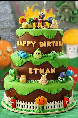 MuyAmeno.com: Tortas de Plantas vs Zombies para Fiestas Infantiles: Cakes Ideas, Zombies Parties, Pvz Cakes, Birthday Parties, Cake Ideas, Parties Ideas, Plants Vs Zombies Cakes, Zombies Party'S, Birthday Ideas