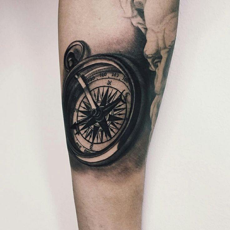 Compass tattoo sleeve in progress by jessie hopeless
