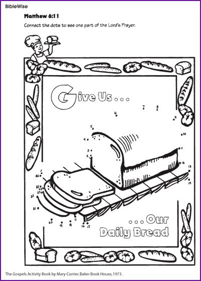 lord's prayer coloring printables | Lord's Prayer - Connect the dots for young children - BibleWise