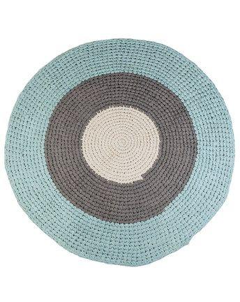 Teppich CROCHET (120cm) in blau/grau
