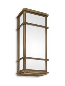 QUADRO Exterior Brass Wall Light (262.10.OB) IL Fanale
