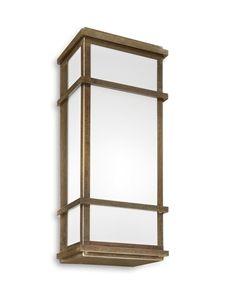 QUADRO Exterior Brass Wall Light (262.10.OB) IL Fanale