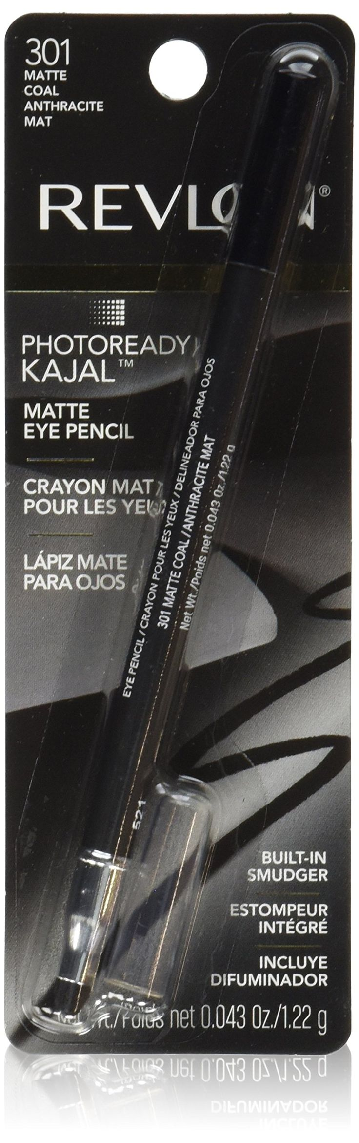 Revlon PhotoReady Kajal Eye Pencil, Matte Coal. Soft kajal in bold colors and matte finis. Soft enough to line the inner rim, matte enough for all day wear. Use with built in smudger to go from precise to smoky. Ophthalmologist tested. Available in 4 shades.