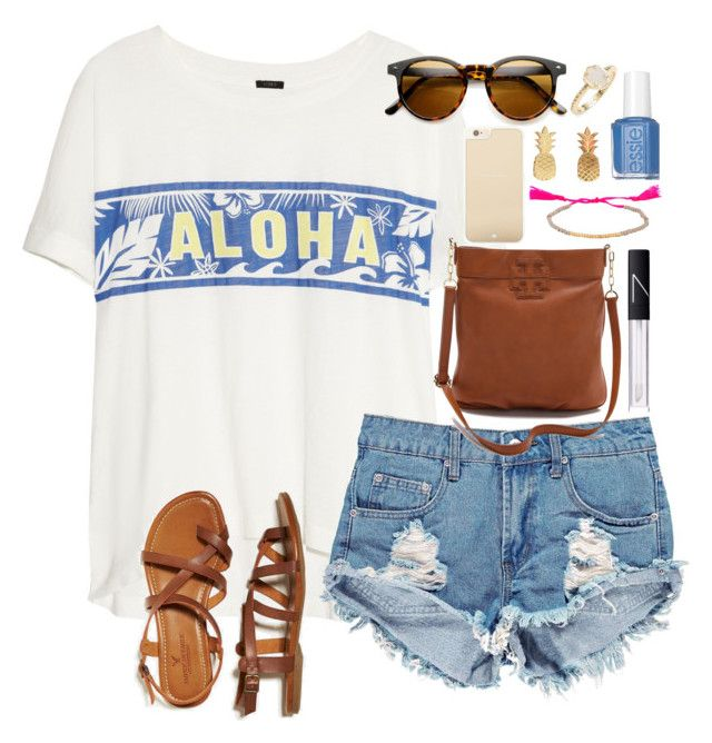 """Aloha"" by lauren-hailey ❤ liked on Polyvore"
