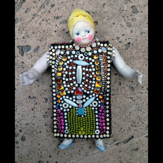 X Ray Guy Two Beadwork by Betsy Youngquist by betsyyoungquist, $475.00