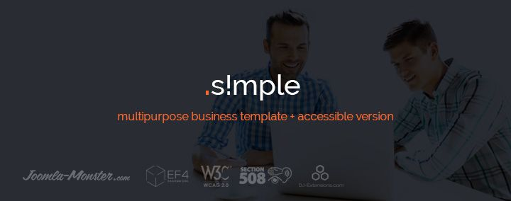Do you run a small business? This Joomla template is ideal for your company!  Joomla template company business