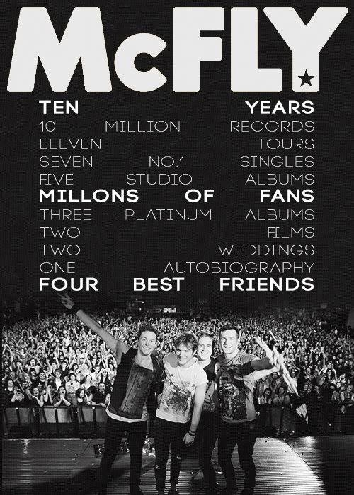 McFLY is an AMAZING british band!! they have been together for 10 years, and i have been a fan for 8. they are truly talented and i love them.