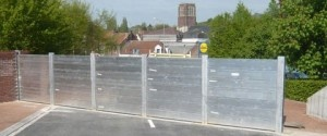 Nos barrières protègent la ville de Bruay-la-Buissière (France) des inondations.