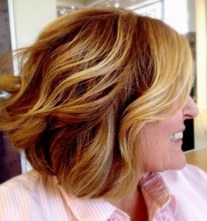 Blonde / Brown / balayage / highlights / brunette / bob / lob / long bob / short / medium length / hair cut / summer / women's / hair style / hair color / soft ombré