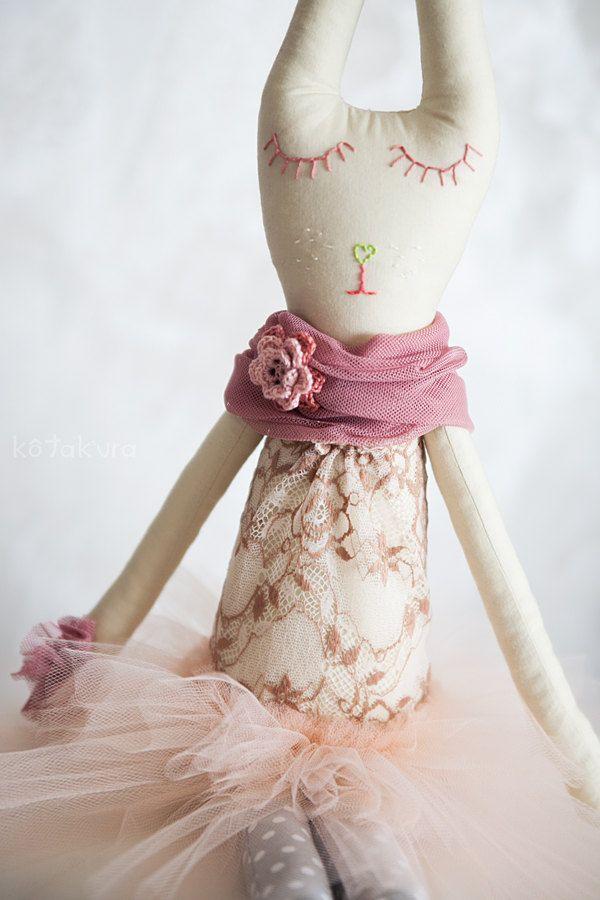 Leonore - shining light, Handmade Ballerina Rabbit Doll by Kotakura on Etsy