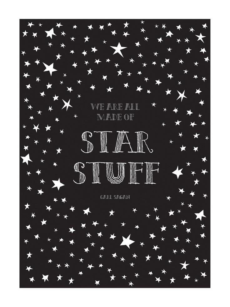 "Carl Sagan Cosmos ""Star Stuff"" Art Print"
